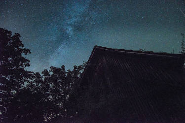 Milky Way over Grandgrandpas Barn