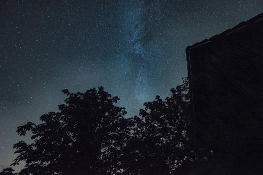 Milky Way over Grandgrandpas Barn Nr. 2