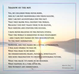 Shadow of the Boy - Visual Poem
