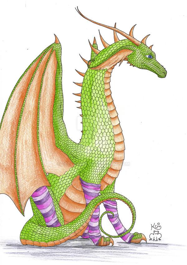 The Stripy Sock Dragon by Scellanis