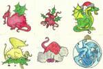 A selection of Xmas Dragons