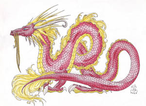 Oriental red dragon