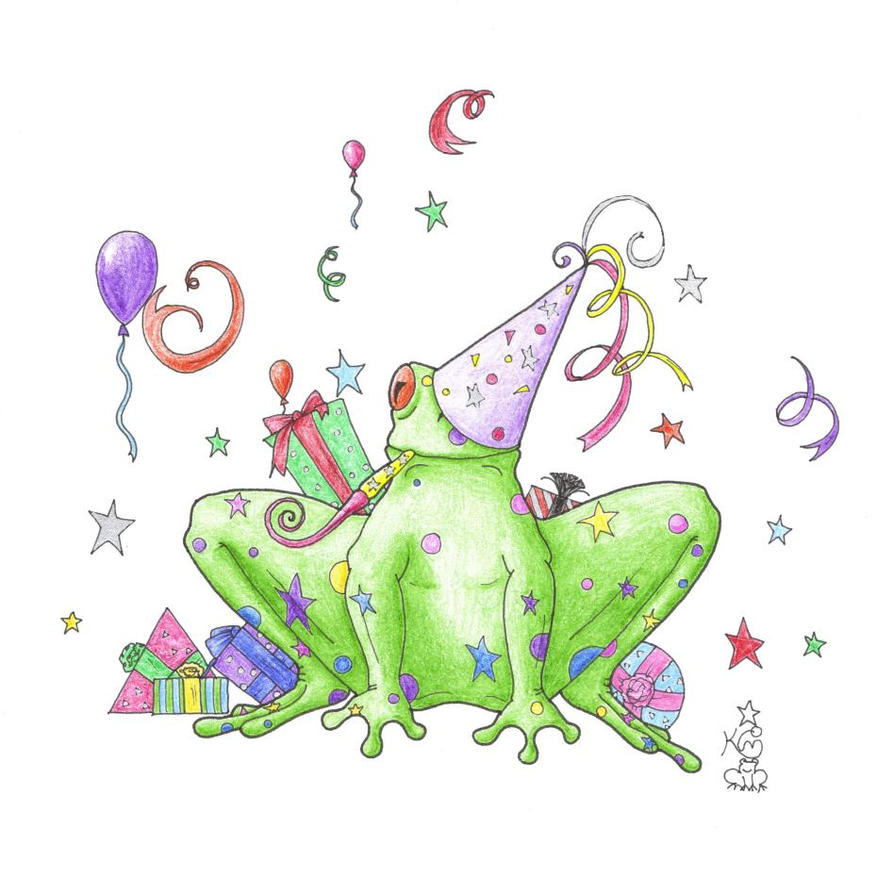 Birthday Frog by Scellanis on deviantART