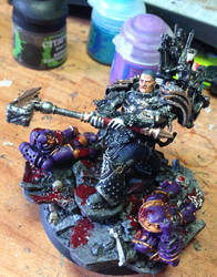 Ferrus Manus of the Iron Hand Legion