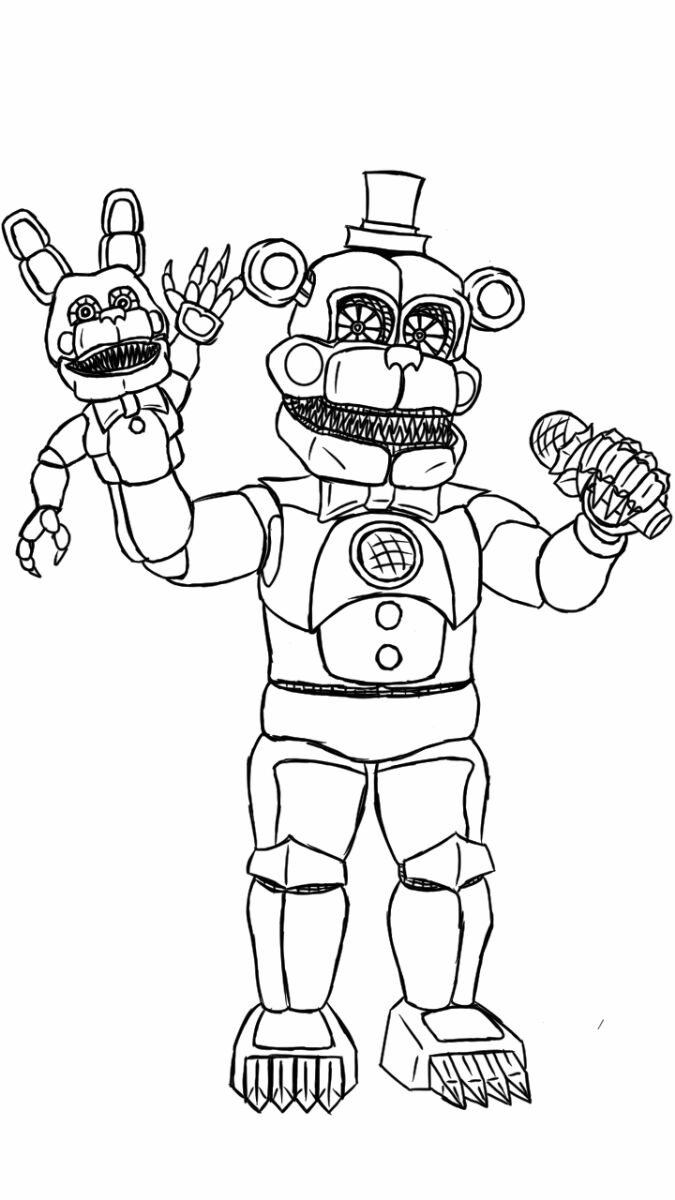 F naf fun time freddy coloring page pictures to pin on for Freddy coloring pages