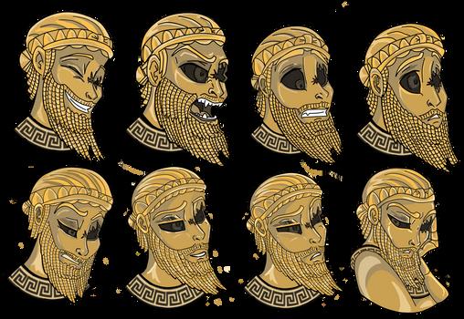 Sargon of Akkad (headshot expressions)