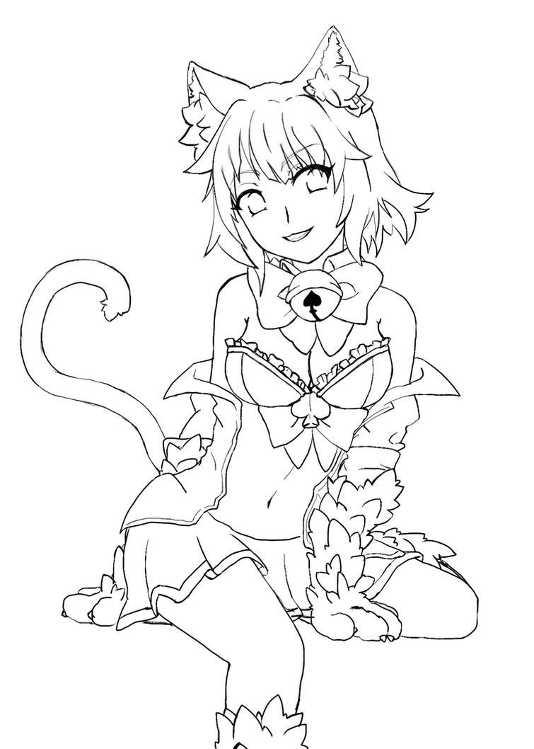 Cheshire Lineart by NatsumeAka