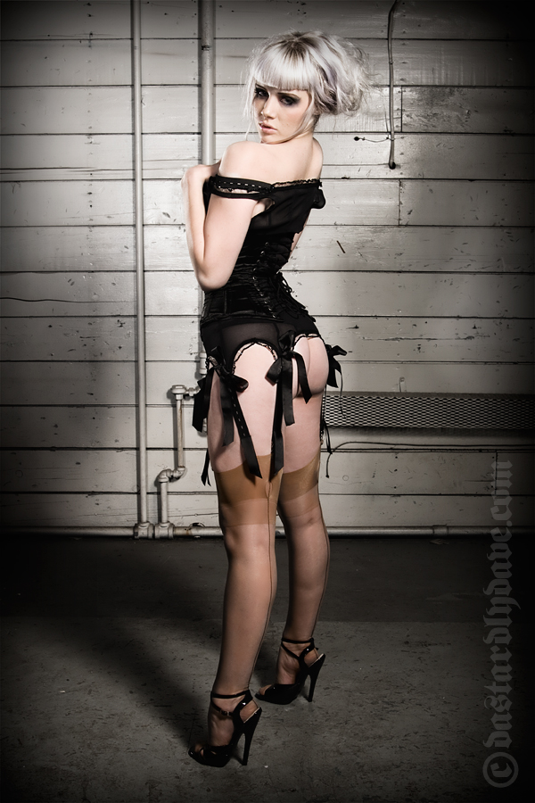 Mosh, black corset by DastardlyDave