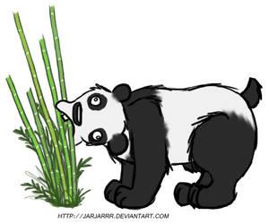 Derp Panda 1 - Chewing by Jarjarrr
