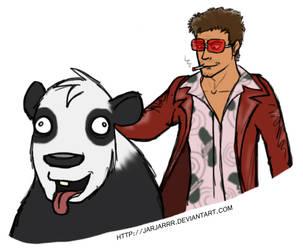 Derp Panda 6 - Tyler Durden by Jarjarrr