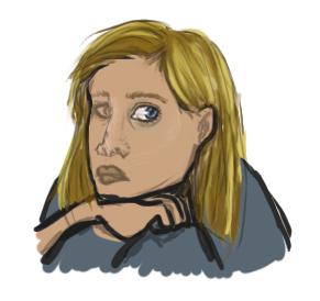Portrait of a Girl Who Waited by Jarjarrr