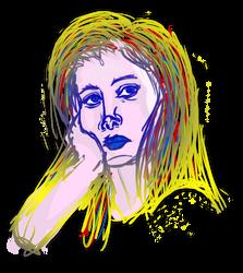 Portrait of a Girl Who Always by Jarjarrr