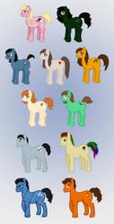My Little Pony: PSL Members by Jarjarrr