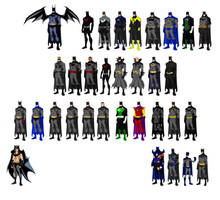 Batmen, based on Phil Bourassa's work by Majinlordx