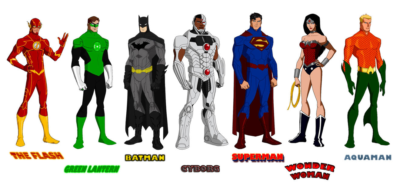 Cartoon Characters Justice League : Justice league new phil bourassa s style by majinlordx