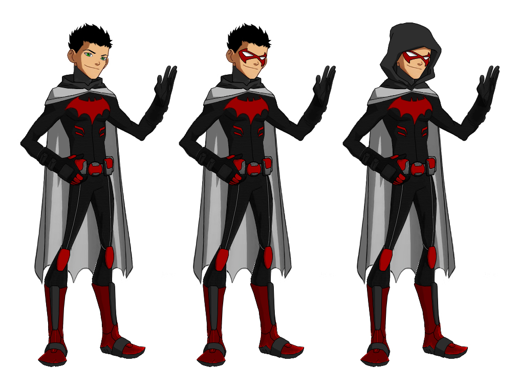 Character Design Young Justice : Hood for ultimatenemesis p bourassa style by majinlordx