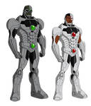 Cyborg and Grid, after Phil Bourassa's work