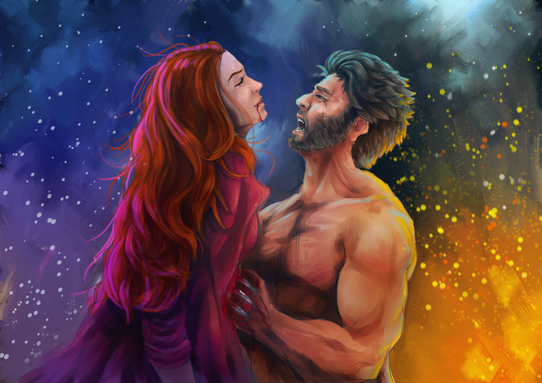Wolverine and Jean - Xmen by Frostbite194