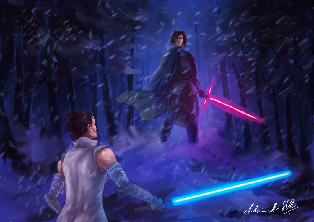 Star Wars: The Last Jedi face-off by Frostbite194