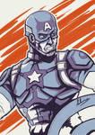 Inktober Day 10 - Captain America
