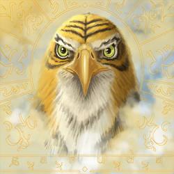 Garuda AKA tigerish eagle by Entropician