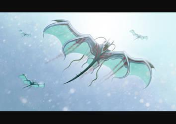 Vampire manta ray by Entropician