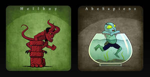 Tiny Hellboys -  Hellboy and Abe (6 of 6)