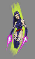 psylocke coloured sketch