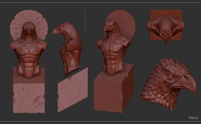 horus sculpt by Entropician