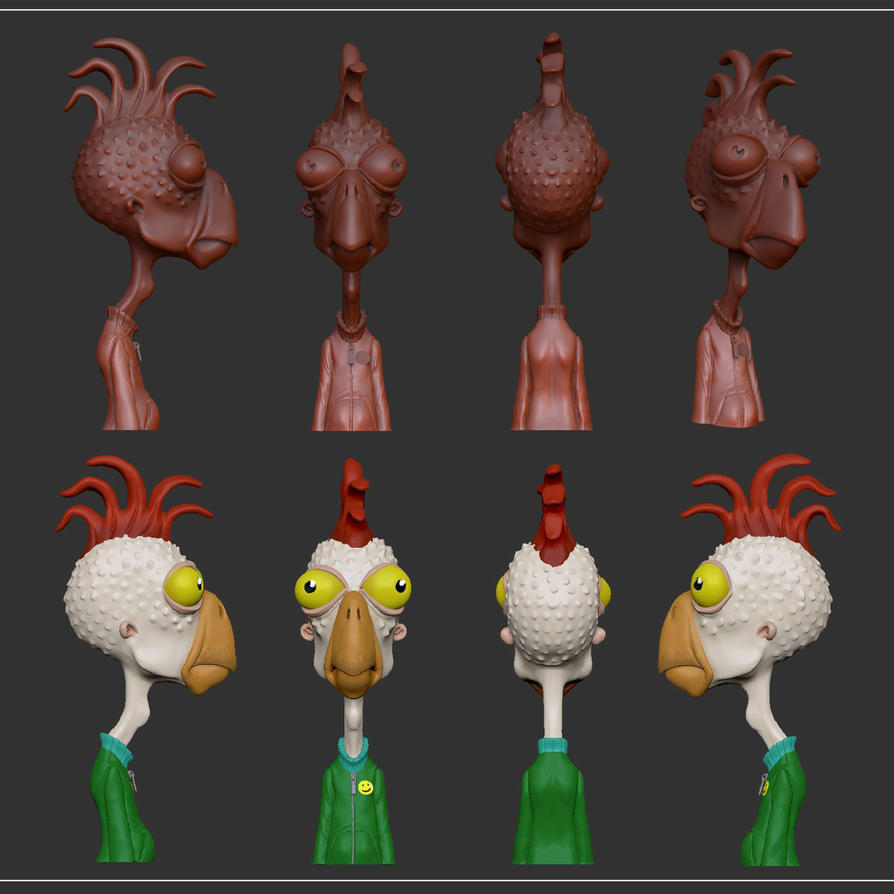 val the birdie making by Entropician