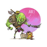 I want your head! AHR! by Entropician