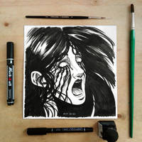 Inktober2017 day24 Blind by Entropician