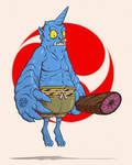 Blue Oni by Entropician
