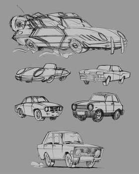 Toon car studies