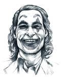 Joker Phoenix black and white