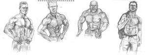 Muscle guys by ChristineAltese