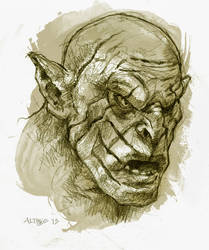 Azog the Defiler by ChristineAltese