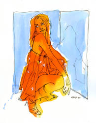 Orange Dress by ChristineAltese