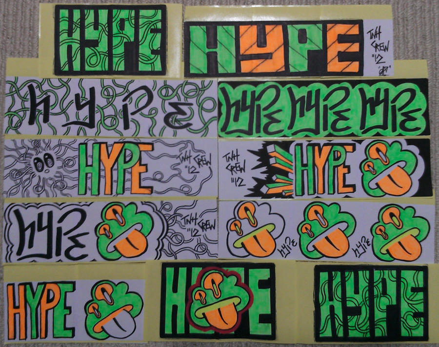 Graffiti Stickers #1 by TNH-Ed-Hill on DeviantArt