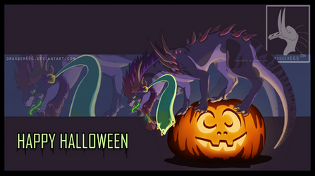 Halloween Dragon By Dragger666 by Dragger666