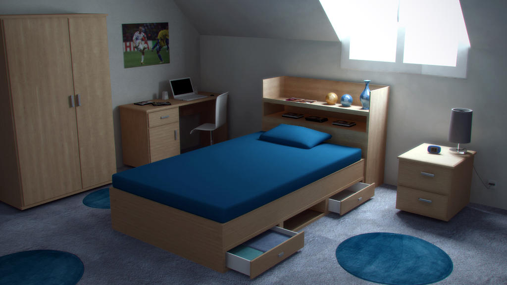 chambre ado by laurentalain on deviantart. Black Bedroom Furniture Sets. Home Design Ideas
