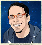 Man Portrait Illustration by LaurentAlain