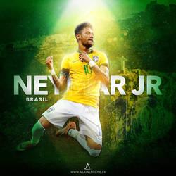 Neymar JR, Brasil by LaurentAlain