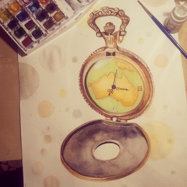 Pocket Watch by claudaladywizard
