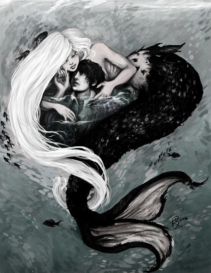 Dark Mermaid Art Mermaid s Lover by BriarNoir