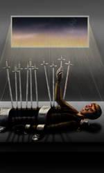 TGWTG Tarot Ten of Swords by HappyTimidFox