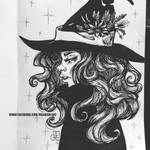 Inktober Day 23 Familiar Witch