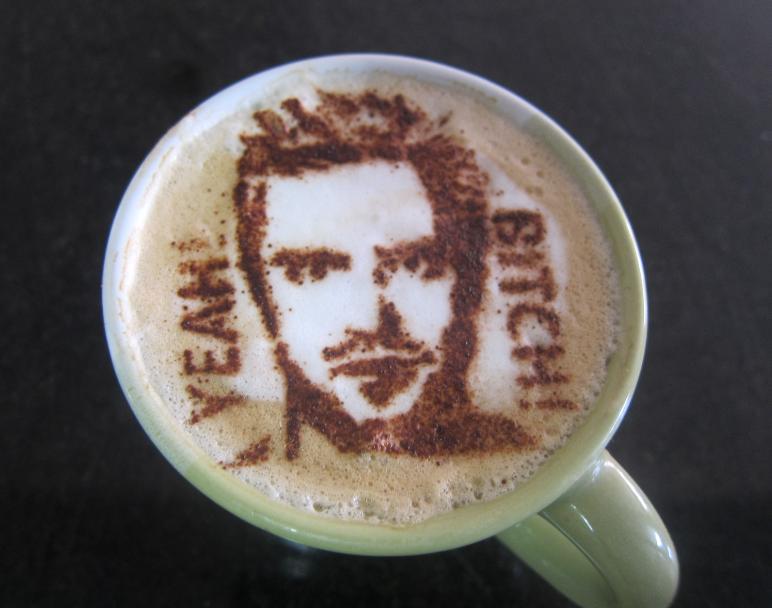 Jesse Pinkman latte art