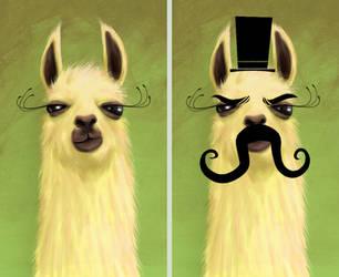 llama and evil llama by chunkysmurf