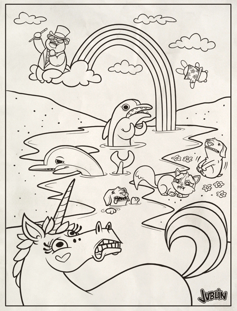 Lisa frank coloring page by chunkysmurf on deviantart for Lisa frank coloring pages
